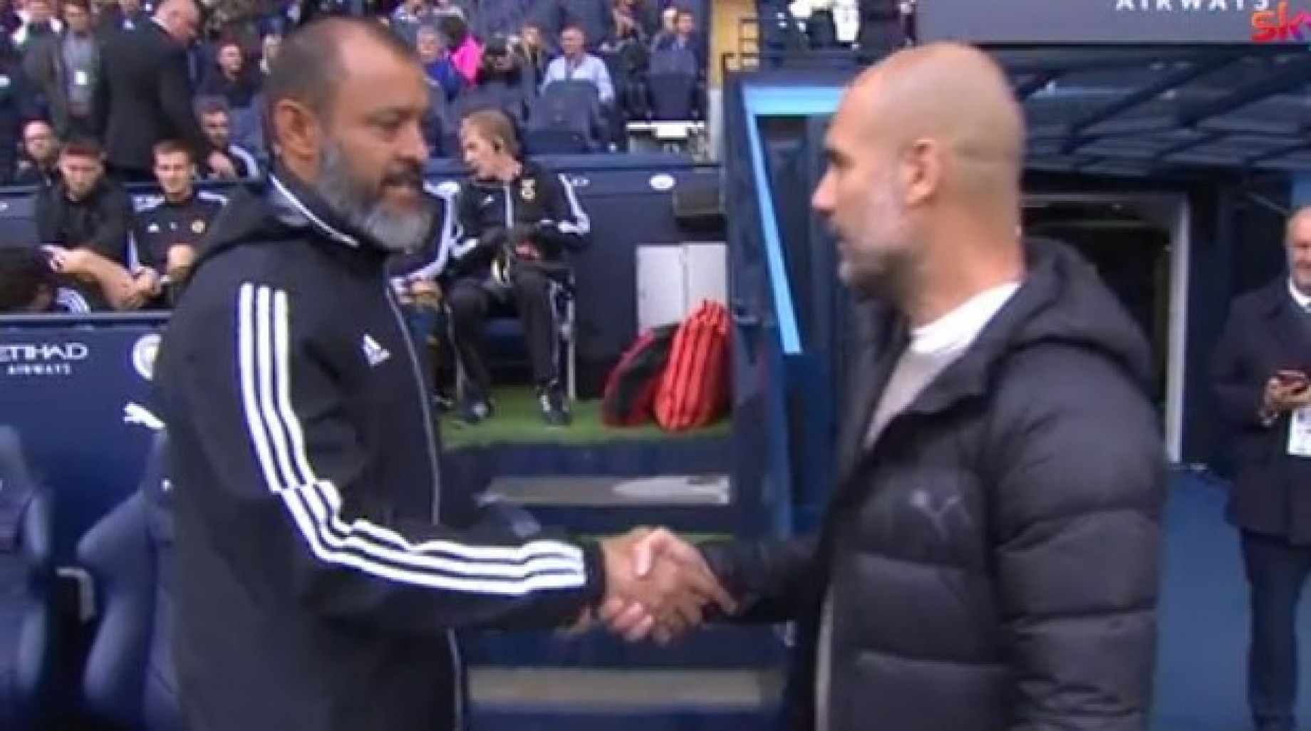 nuno espirito santo e guardiola SCREEN