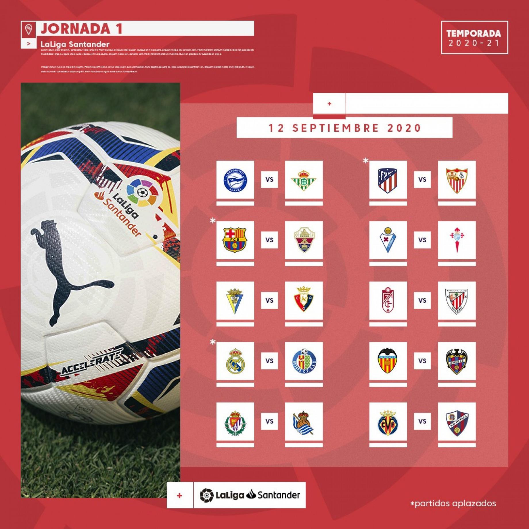La Liga A3 Calendario da parete ufficiale del Real Madrid 2021