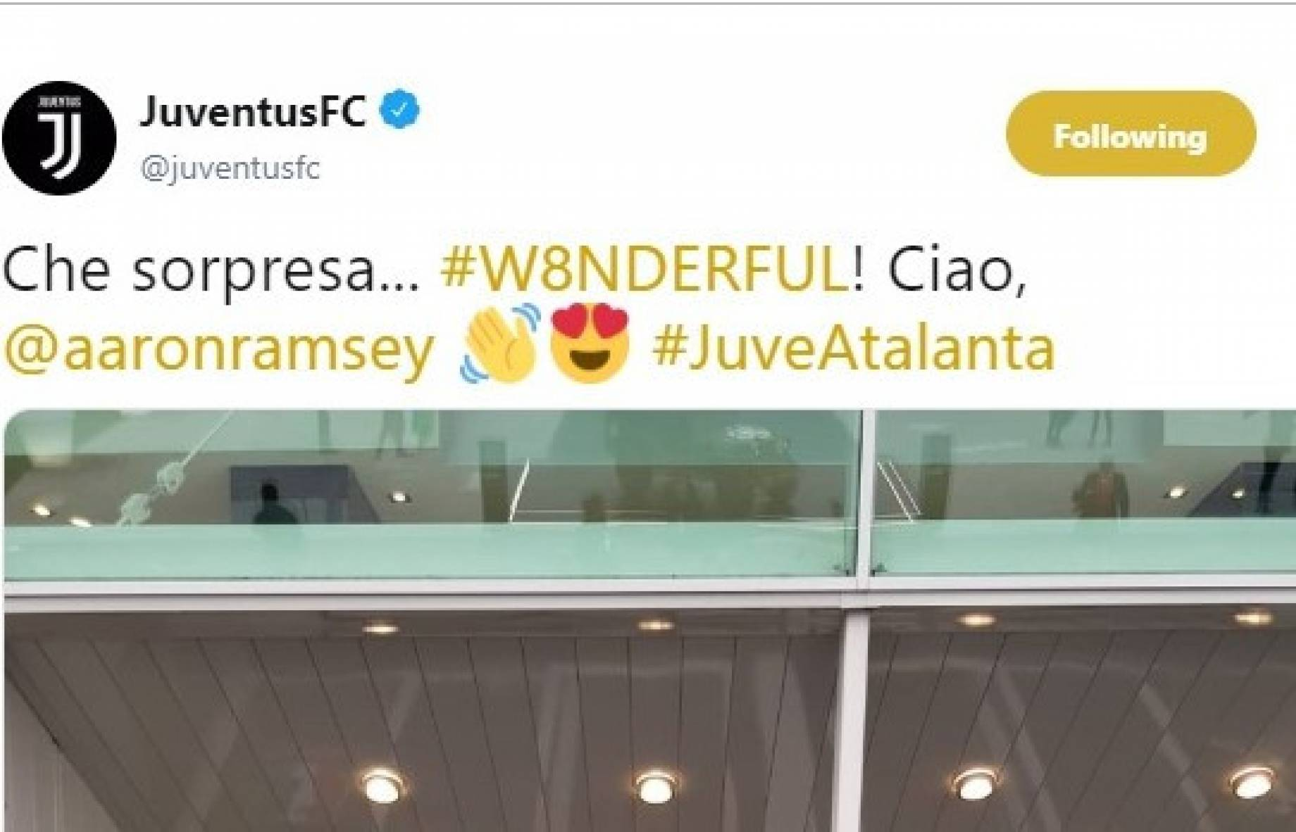 Juventus, Ramsey attends last home match of season
