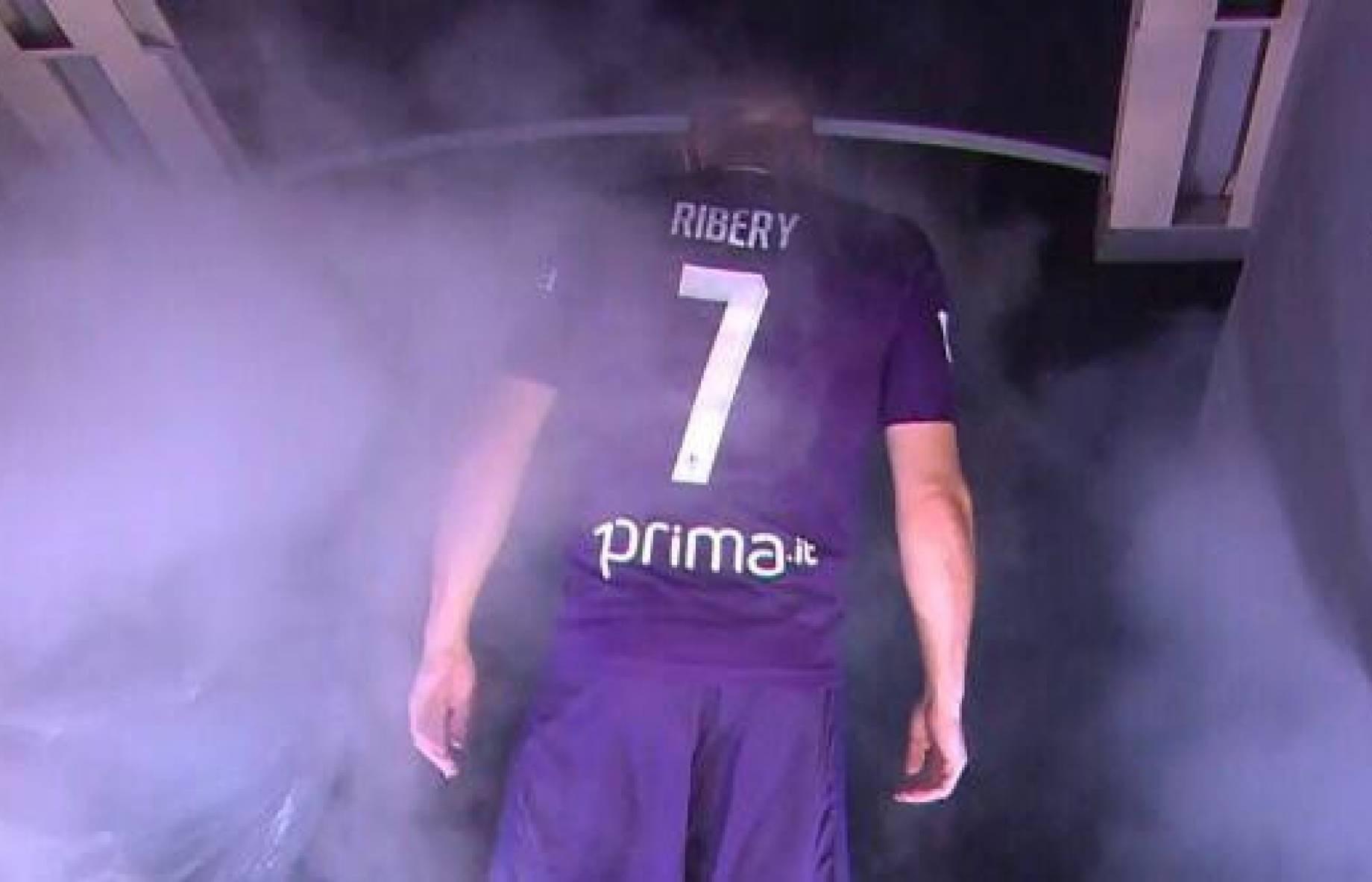 Ribery presentazione Fiorentina GDM