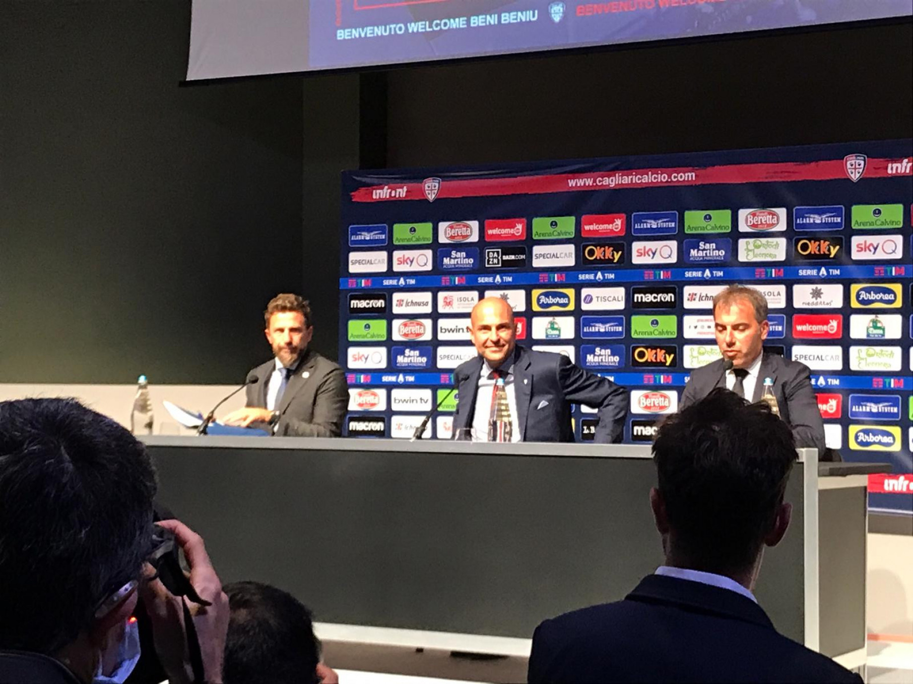 Di Francesco conferenza Cagliari 1 GDM